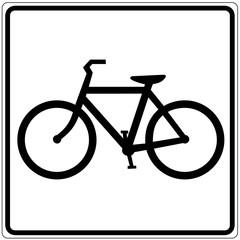 Papier Peint - Schild weiß - Fahrradverleih