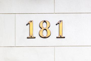 number 181