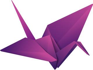 vector origami crane. eps10