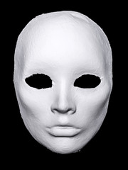White Hand Made Mask