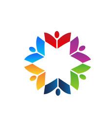 Teamwork books colorful logo