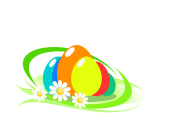 Abstract background with easter eggs