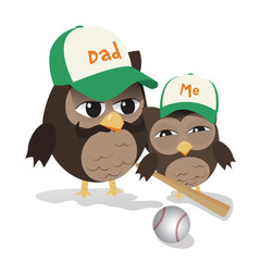 Father's day baseball owl