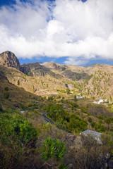 A beautiful mountain scape panorama in Gran Canaria, Spain