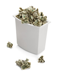 Money Waste Basket