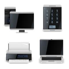 pc printer phone vector icons xxl
