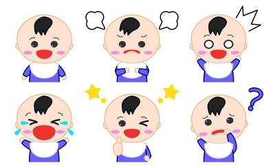 赤ちゃんイラスト 表情