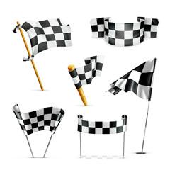 Checkered flags, set