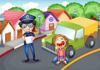 The policeman and the crying driver