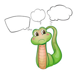 A thinking green worm