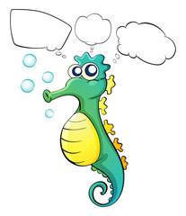 A thinking sea horse