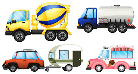A set of cars