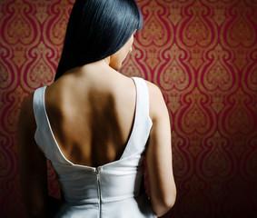 Sexy brunette shoulders