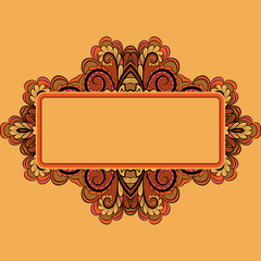 Ornamental invitation card
