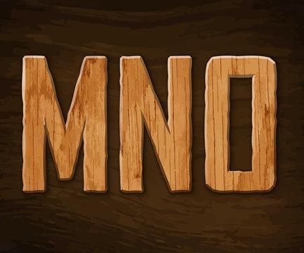 Alphabet made of wood
