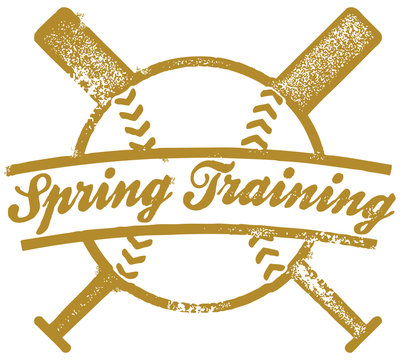 Spring Training Baseball Stamp