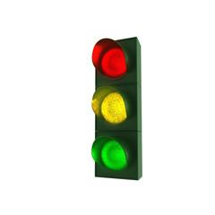 Ampel - rot, gelb und grün - 2