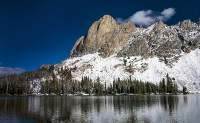 Idaho mountain lake winter