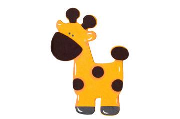 Giraffe on white