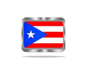 Metal Puerto Rico flag.