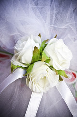 Close up to wedding roses