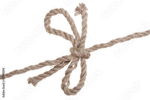 Бант из веревки