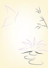 sfondo loto e farfalla