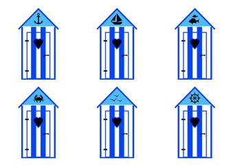 Cabine de plage - Bleu