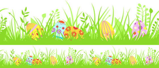 Horizontal seamless Easter background