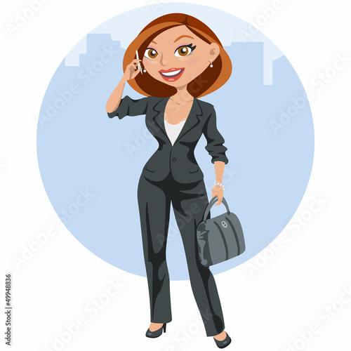 """""""Mujer de negocios elegante hablando por el móvil ..."""