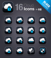 Black Squares - Cloud computing Icons