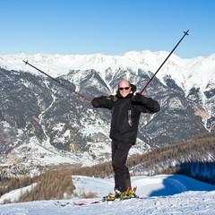 Plaisir de skier (homme 40s)