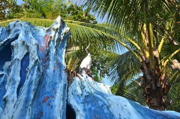 Statue in the Haw Par Villa Gardens in Singapore