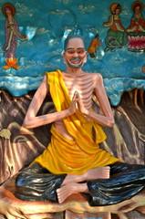 Meditating Buddha Statue in  Haw Par Villa in Singapore