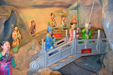 Ten Courts of hell in the Haw Par Villa Gardens in Singapore