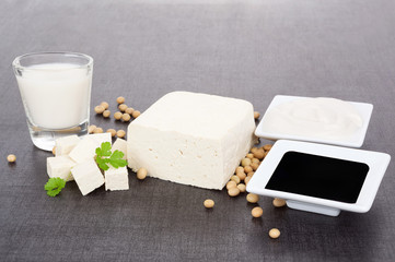 Soy products still life.