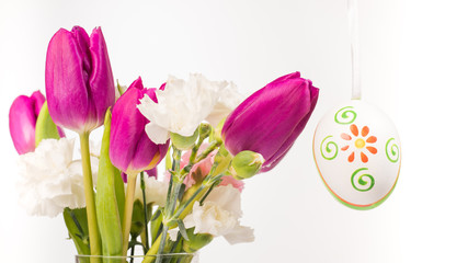 Foto auf Gartenposter Tulpen nice picture from tuilp and easter eggs