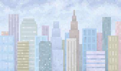 pixel town vector
