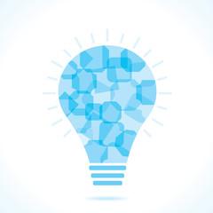 Blue square bulb background