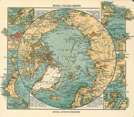 Wall Mural - Arctic old map