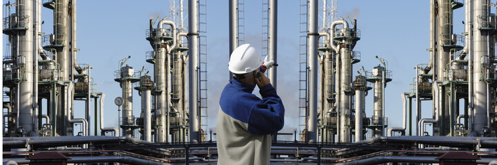 engineer directing giant oil and gas, power industries