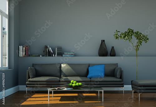 modernes ledersofa grau stockfotos und lizenzfreie. Black Bedroom Furniture Sets. Home Design Ideas