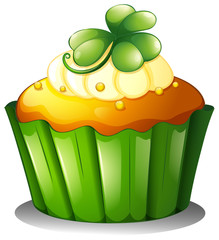 A cupcake for St. Patrick's Day