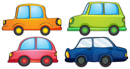Different colors of a car