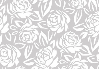 Seamless abstract rose flower background