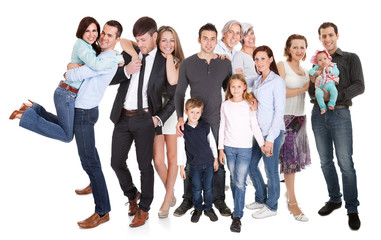 Wall Mural - Several families with kids and couples