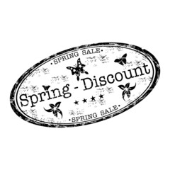 Spring discount stamp