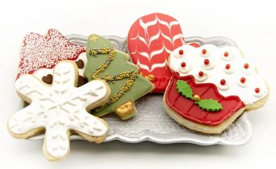 Fototapete - Galletas decoradas de navidad