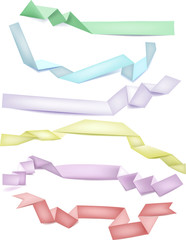 Set of colorful paper ribbon