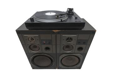 Turntables on speakers